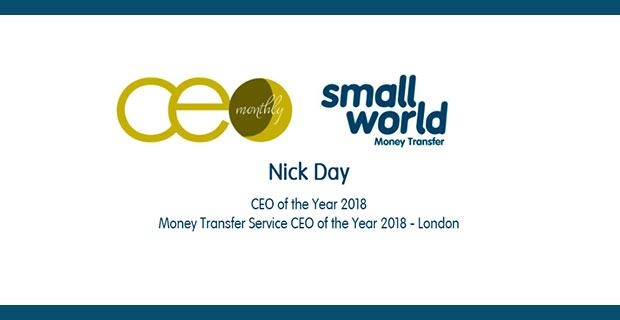 CEO Monthly's Money Transfer Service CEO of the Year 2018