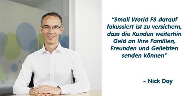 Nachricht vom CEO von Small World, Nick Day