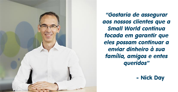 Mensagem do CEO da Small World, Nick Day